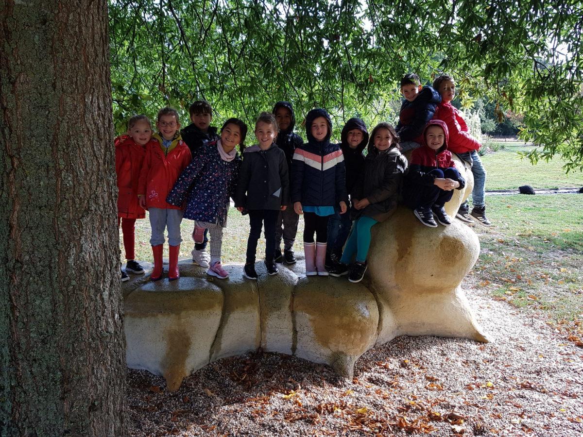 Les CP-CE1 aux Jardins de Brocéliande